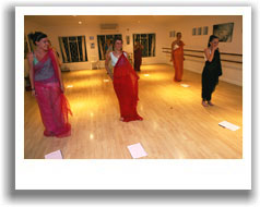 Bellydancing lesson at one of our studios