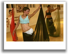 Students learn to bellydance